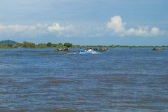 Провинция Chhnang Kampong дом реки makong около горы kongrie в Королевстве Камбоджи около границы Таиланда Стоковые Изображения