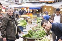 Провинция Rasht ИРАН 26-ое марта 2016 Gilan - ежедневный базар Стоковые Изображения