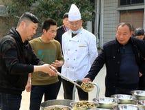 Провинция ` s Цзянсу Китая: городок озера hongze, маленький город очень вкусной еды стоковые изображения rf
