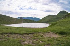 Провинция Scaffaiolo озера Моденаа Италии стоковое фото