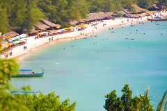 Провинция SIHANOUK VILLE королевство Камбоджи пляжа рая интереса Стоковое Изображение RF