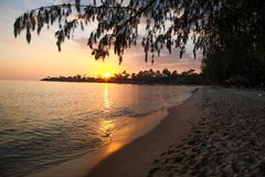 Провинция SIHANOUK VILLE королевство Камбоджи пляжа рая интереса Стоковое Фото