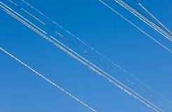 проводы зимы hoarfrost стоковое фото rf