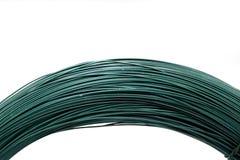 проводы изолированные зеленым цветом металлические белые Стоковые Изображения