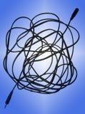проводы сини предпосылки Стоковые Изображения RF