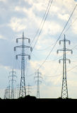 Проводы электричества в стране Стоковая Фотография RF