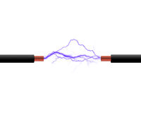 проводы электричества Стоковые Изображения
