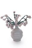 провод белизны вазы цветков шариков стеклянный Стоковые Фото