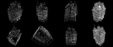 провод белизны дома Стоковые Фотографии RF