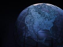провод глобуса рамки земли Стоковые Фотографии RF