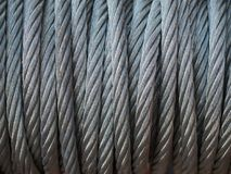 Провод кабеля стальной Стоковые Изображения