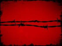 провод красного цвета колючки Стоковые Фото
