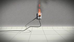 Провод огня электрический иллюстрация вектора