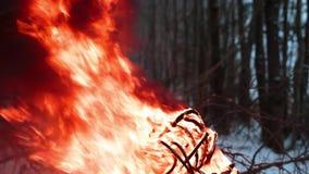 Провод электровзрывной сети в огне сток-видео