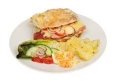 Провозглашанная тост еда сэндвича стоковое фото