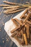 Провозглашанные тост мякиши хлеба рож Стоковые Фото