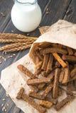 Провозглашанные тост сухари хлеба рож Стоковые Изображения