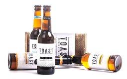 Провозглашать пиво ремесла, заваренное с излишным свежим хлебом Стоковое Изображение RF