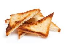 Провозглашанные тост куски хлеба Стоковые Изображения