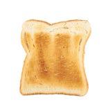 Провозглашанный тост изолированный кусок хлеба Стоковое Изображение RF