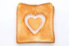 Провозглашанный тост кусок хлеба Стоковые Фото