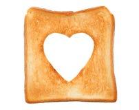 Провозглашанный тост кусок хлеба Стоковое Изображение RF
