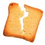 Провозглашанный тост треснутый кусок хлеба Стоковые Фото