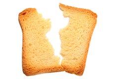 Провозглашанный тост треснутый кусок хлеба Стоковая Фотография RF