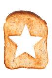 Провозглашанный тост хлеб с формой звезды Стоковое Изображение RF