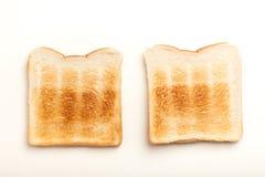 2 провозглашанных тост куска хлеба Стоковые Изображения