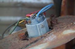 Провода прикрепленные к соединителю Стоковая Фотография RF