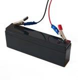 Провода с зажимами на штепсельных вилках аккумулятора Стоковая Фотография RF