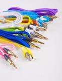 Провода цвета с штепсельными вилками Стоковые Фото