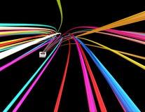 Провода цвета иллюстрация вектора