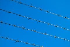 провод голубого неба предпосылки колючий Стоковое Фото