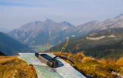 Проводите с GPS в горе Стоковая Фотография RF