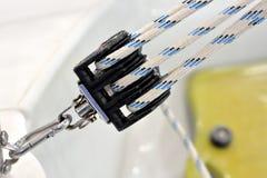Проводка и веревочка шлюпки Стоковые Изображения RF