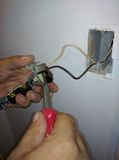 Проводка для электрической установки выхода Стоковая Фотография RF
