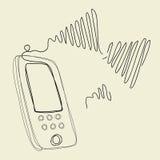 Провод нового беспроволочного телефона Стоковые Фото