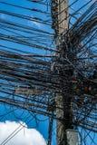 Провод путать в Таиланде стоковое изображение