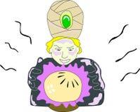 Прогноз кристаллического шарика иллюстрация штока
