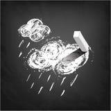 Прогноз погоды - дождь иллюстрация вектора