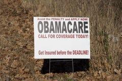 Программа плана здоровья Obamacare стоковое фото rf