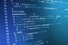 Программируя экран исходного кода кодирвоания Стоковое Фото