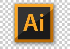 Програмное обеспечение дизайна значка иллюстратора Adobe Стоковые Фото