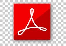Програмное обеспечение дизайна значка Adobe Acrobat Reader Стоковая Фотография