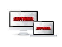 Програмное обеспечение и электронная иллюстрация бесплатная иллюстрация