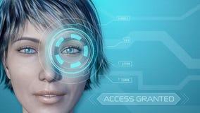 Програмное обеспечение опознавания глаза Стоковое фото RF
