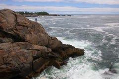 Прогремлите овраг, au Haut острова, Мейн Стоковая Фотография