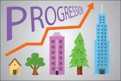 Прогрессирование в развитии Стоковое Изображение